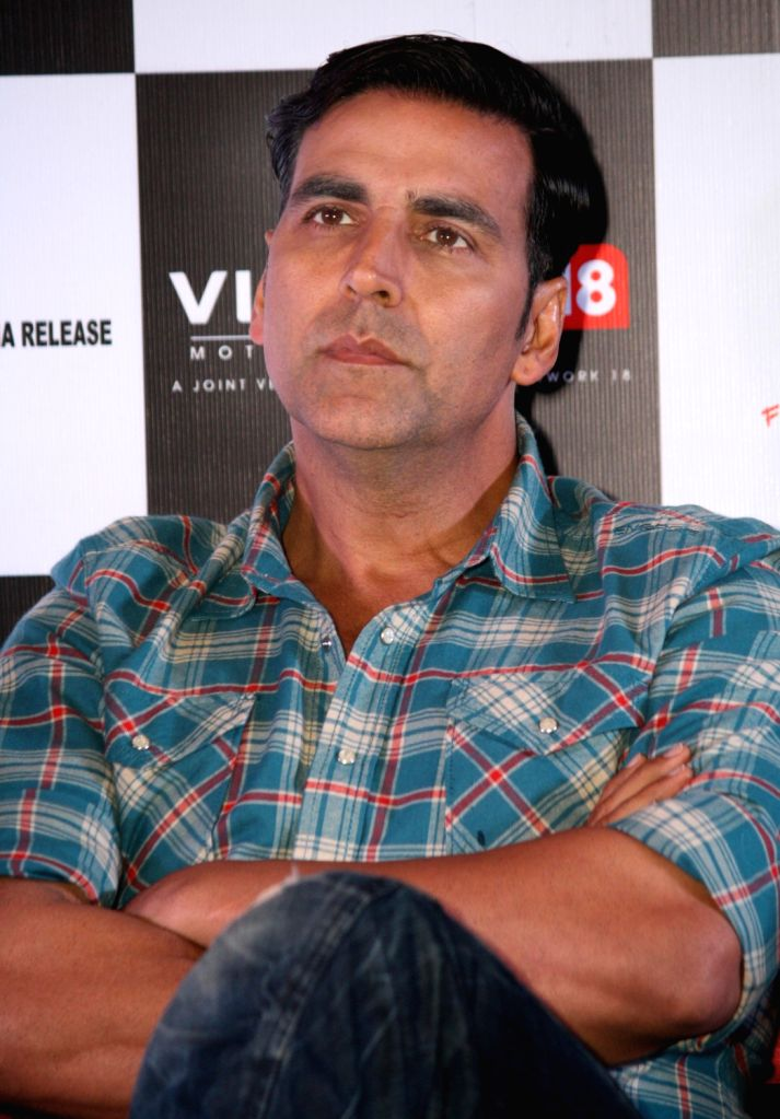 Bollywood actor Akshay Kumar at the press conference of film ``Special 26`` in PVR, New Delhi 31 Jan 2013.