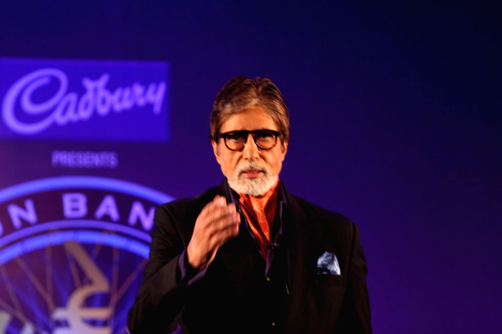 Bollywood actor Amitabh Bachchan during the launch of television game show Kaun Banega Crorepati (KBC) in Mumbai on August 29, 2013. (Photo: IANS) - Amitabh Bachchan