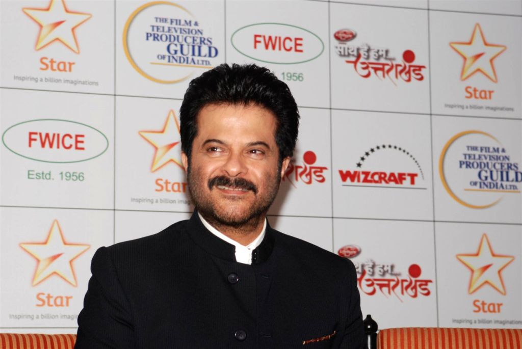 Bollywood actor Anil Kapoor during the Star India`s `Saath Hain Hum Uttarakhand` 7-hour programme in Mumbai on August 15, 2013.  (Photo::: IANS) - Anil Kapoor