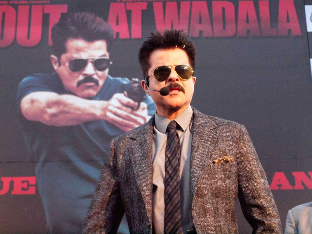 Bollywood Actor Anil Kapoor launched the first look trailer of  Shootout at Wadala in GIP Mall,Noida.(Photo:IANS/Amlan) - Anil Kapoor