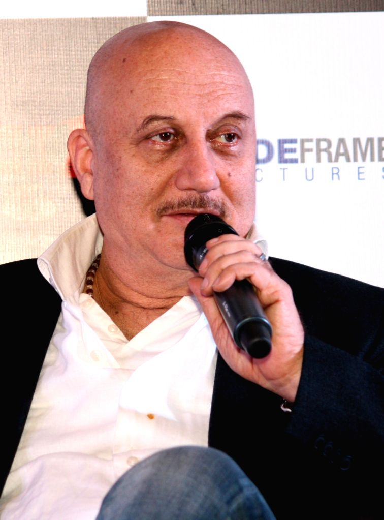 Bollywood actor Anupam kher at the press conference of film ``Special 26`` in PVR, New Delhi 31 Jan 2013. - Anupam