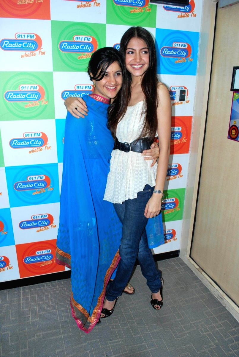 Bollywood actor Anushka Sharma judged the Radio City dance competition at their studio in Mumbai.