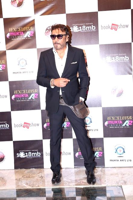 "Bollywood actor Jackie Shroff during the re-premier of action thriller flim ""Khalnayak"" in Mumbai in Mumbai on June 11, 2017. - Jackie Shroff"