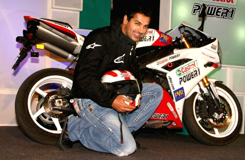 "Bollywood Actor John Abraham at the final of the ""Castrol Power1 Passion Hunt"" ,in New Delhi on Wednesday 22 April 2009."