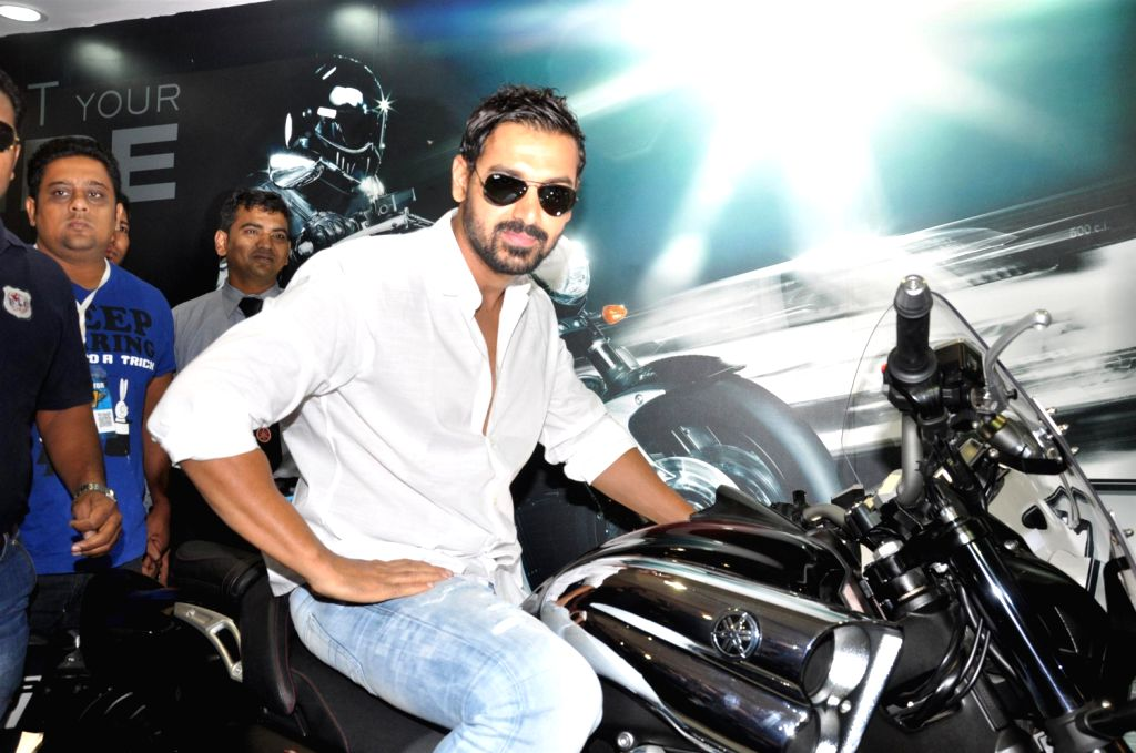 Bollywood actor John Abraham Brand Ambassador of Yamaha inaugurates Mumbai International Motor Show 2013 at BKC in Mumbai. - John Abraham Brand Ambassador