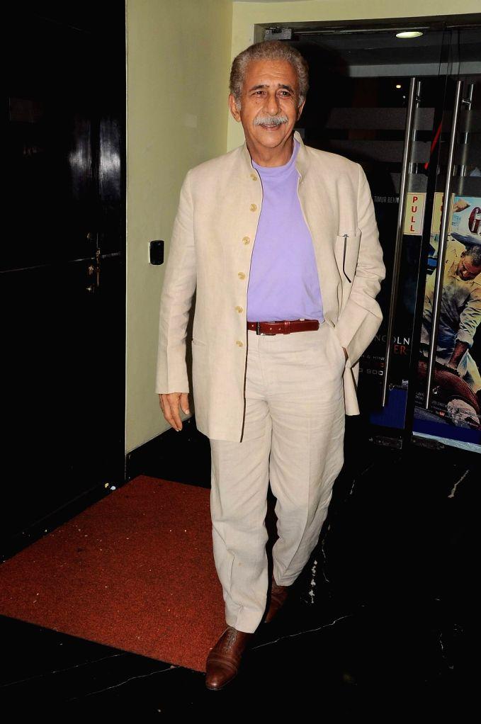 Bollywood actor Naseeruddin Shah Maximum film music launch at PVR Mumbai, India. - Naseeruddin Shah Maximum