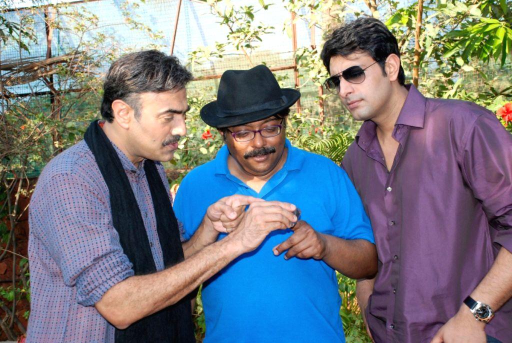 "Bollywood actor Priyanshu Chatterjee at the location of his upcoming flim ""Diamond Murders""."