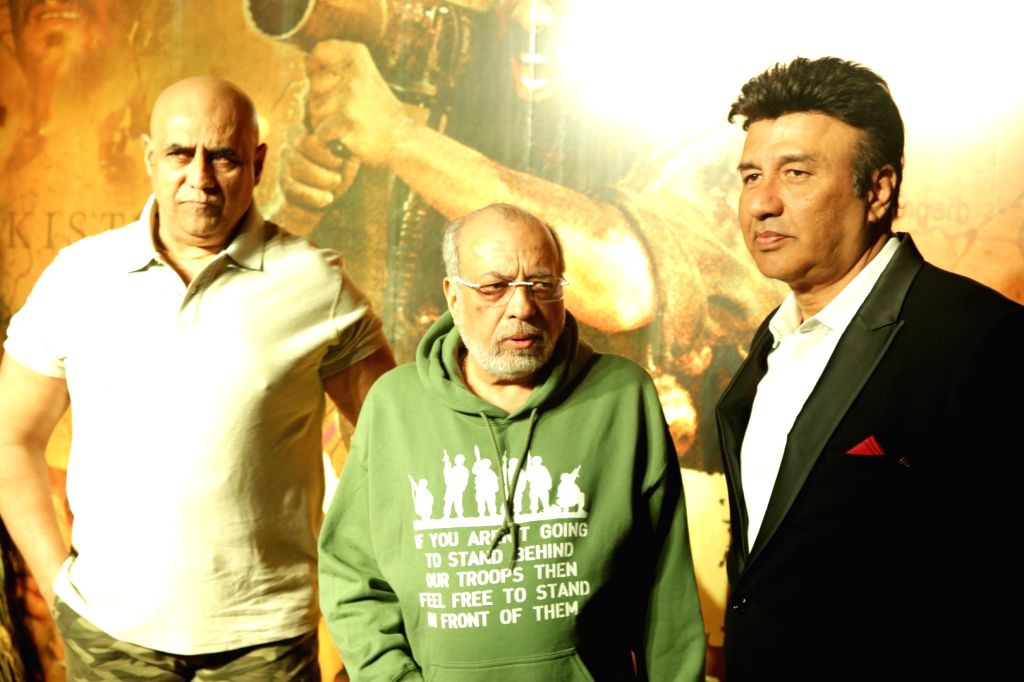 Bollywood actor Puneet Issar, filmmaker J P Dutta and music composer Anu Malik during the celebrations 20 years completion of film Border, in Mumbai in Mumbai on June 11, 2017. - Puneet Issar and Malik