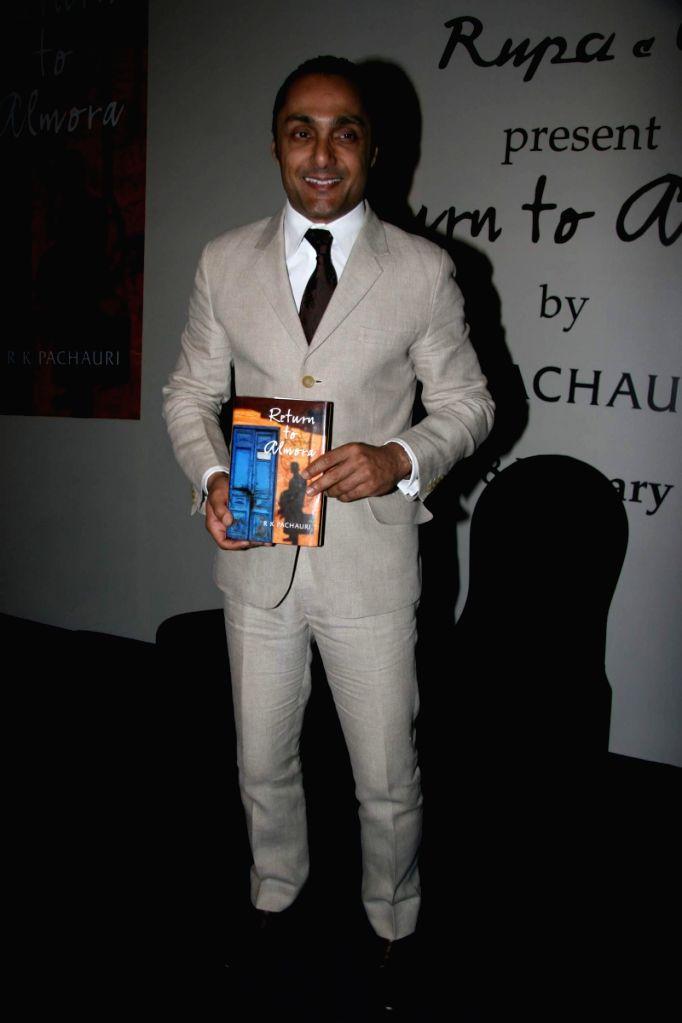"Bollywood actor Rahul Bose at the launch of Pachauri's book ""Return to Almora"" at Taj."