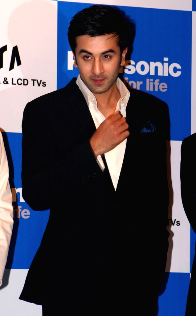 Bollywood actor Ranbir Kapoor at the launch of Panasonic viers LCD and Plasma series, in New Delhi on Saturday.