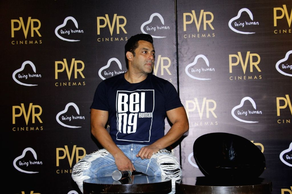 Bollywood actor Salman Khan during the announcement of the association with Being Human Foundation and PVR Cinemas, in Mumbai, on June 23, 2017. - Salman Khan