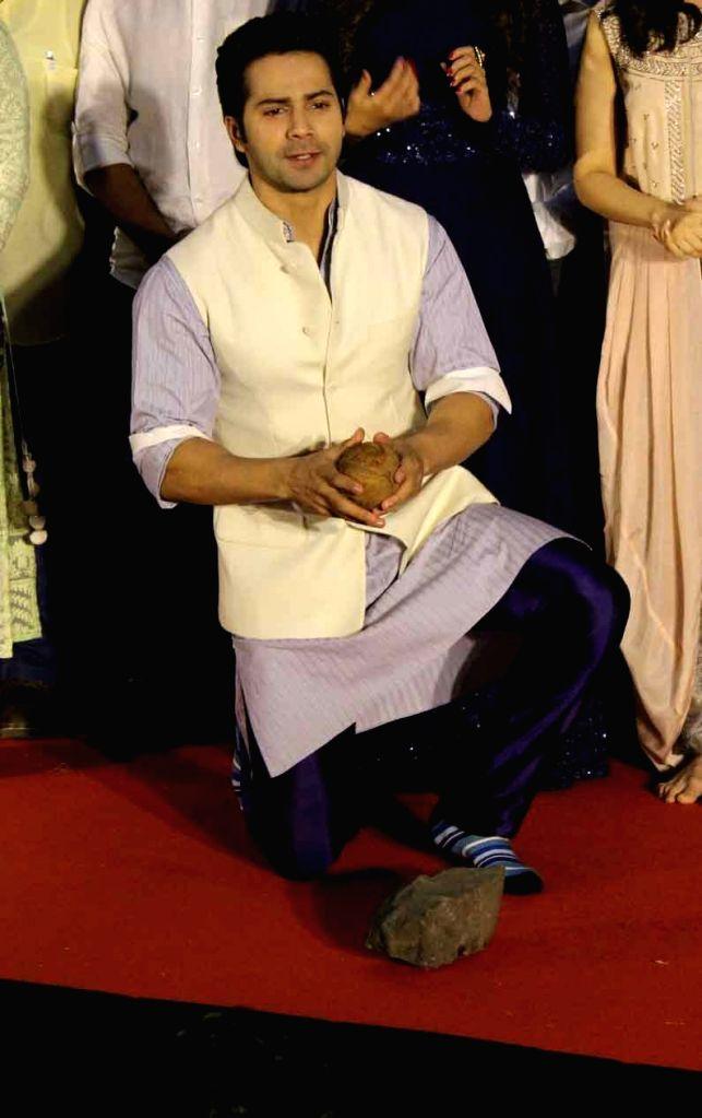 Bollywood actor Varun Dhawan during the song launch Deva Deva from the upcoming Marathi film Bhikari in Mumbai, on June 26, 2017. - Varun Dhawan