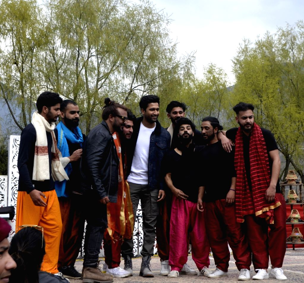 Bollywood actor Vicky kaushal and actress Sonal chauhan in uri area of baramulla district - Vicky