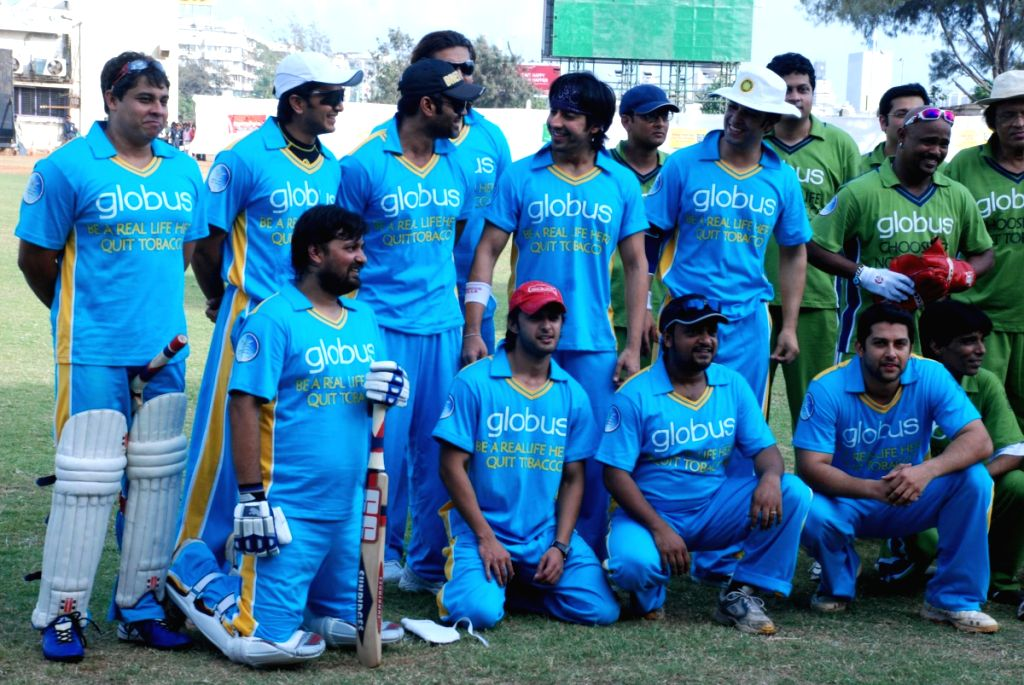 Bollywood actors at CPAA's cricket match.