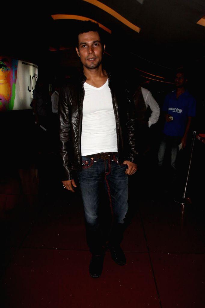 Bollywood actors Randeep Hooda during the promotion of film John Day in Mumbai on August 14, 2013. (Photo::: IANS) - Randeep Hooda