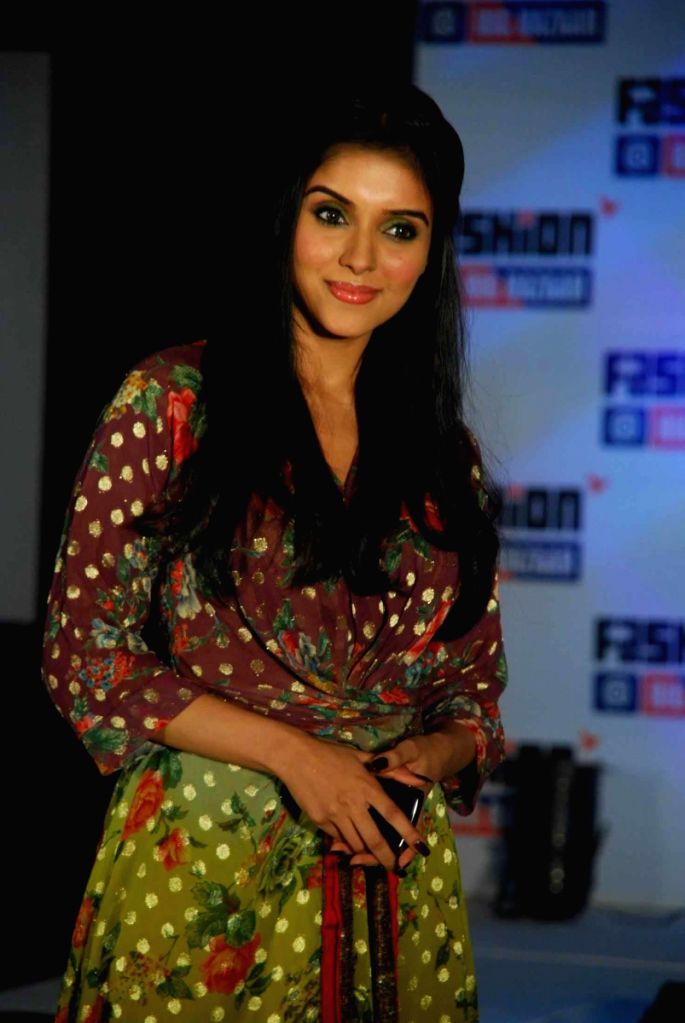 Bollywood actress Asin at the promotional event of retail chain Big Bazaar. - Asin