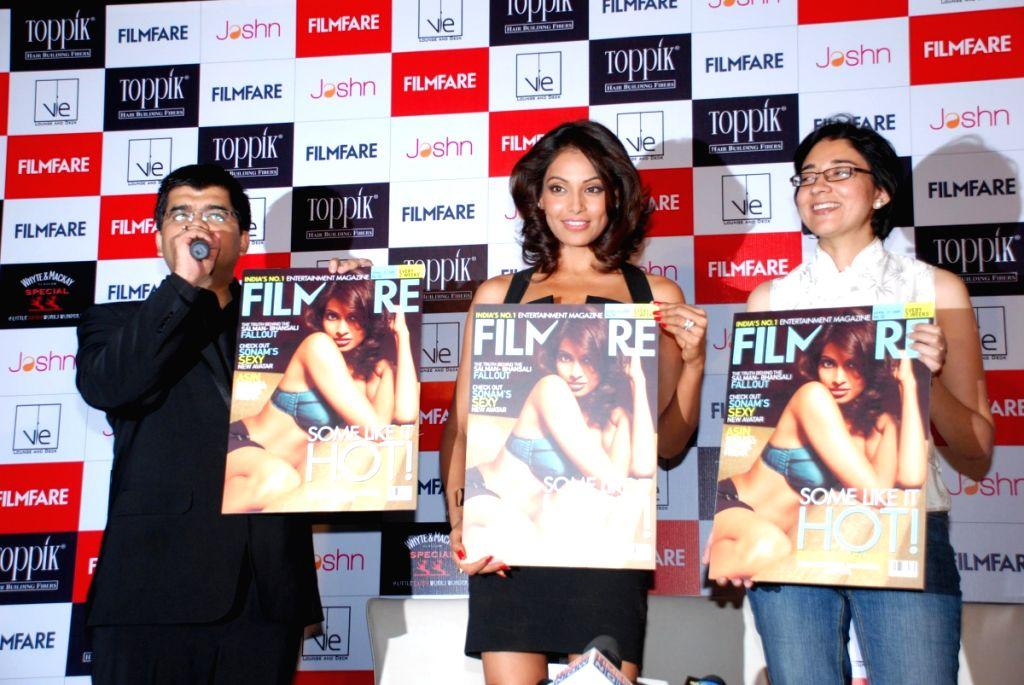 Bollywood actress Bipasha Basu at the launch of Filmfare Magazine in Mumbai.