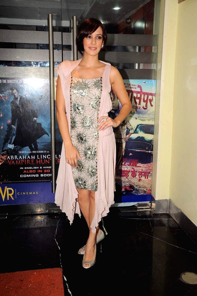 Bollywood actress Hazel Keech Maximum film music launch at PVR Mumbai, India. - Hazel Keech Maximum