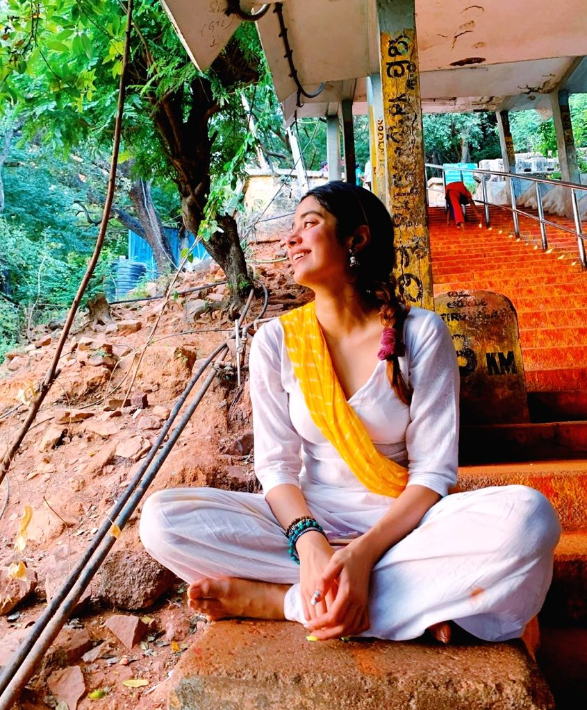 """Bollywood actress Janhvi Kapoor is currently on a religious trip to Tirupati in Andhra Pradesh. The """"Dhadak"""" actress took to Instagram on Sunday and posted a gamut of photographs from her ... - Janhvi Kapoor"""