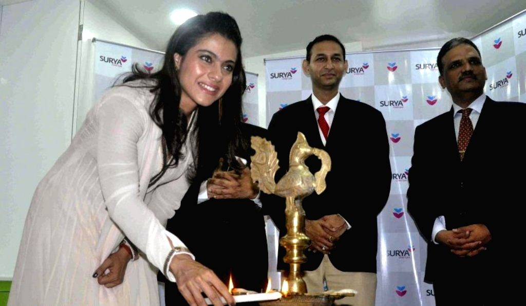 Bollywood actress Kajol Devgan inaugurates of Surya child care hospital`s 65 bedded expanded Neonatal Intensive Care Unit (NICU) in Mumbai on August 15, 2013. (Photo::: IANS) - Kajol Devgan