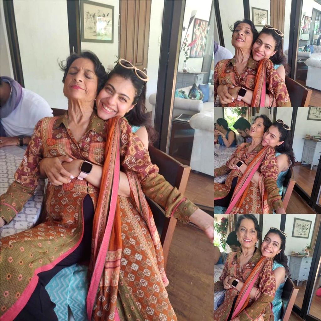 Bollywood actress Kajol has shared a beautiful photograph of herself hugging her mother and veteran actress Tanuja. On Daughter's Day on September 22, Kajol took to Instagram, where she shared a photo-collage of herself along with Kajol. - Kajol