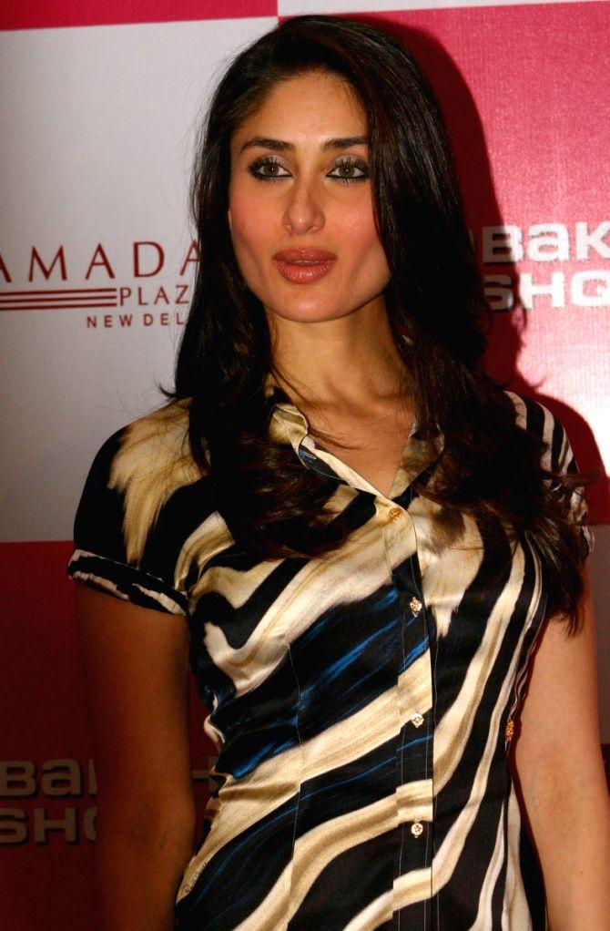 "Bollywood Actress Kareena Kapoor at a press meet for the film ""Kambakkhat Ishq"" in New Delhi on Monday 15 June 2009."