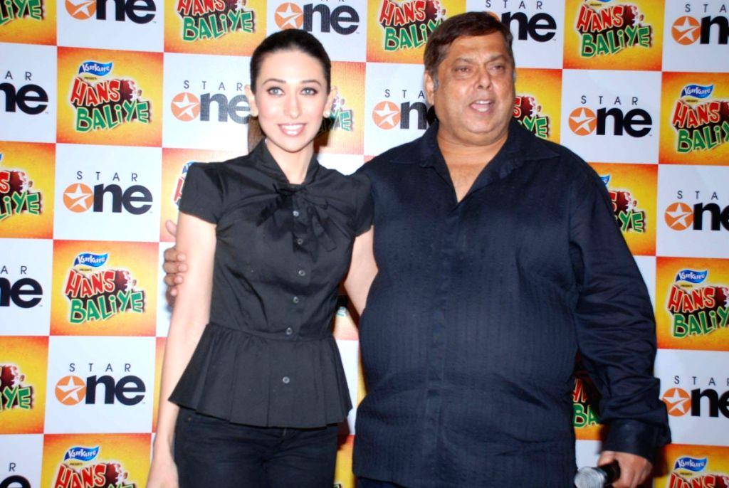 """Bollywood actress Karisma Kapoor and filmaker David Dhawan at the party of a new reality series """"Hans Baliye Party"""" on Star One. - Karisma Kapoor"""