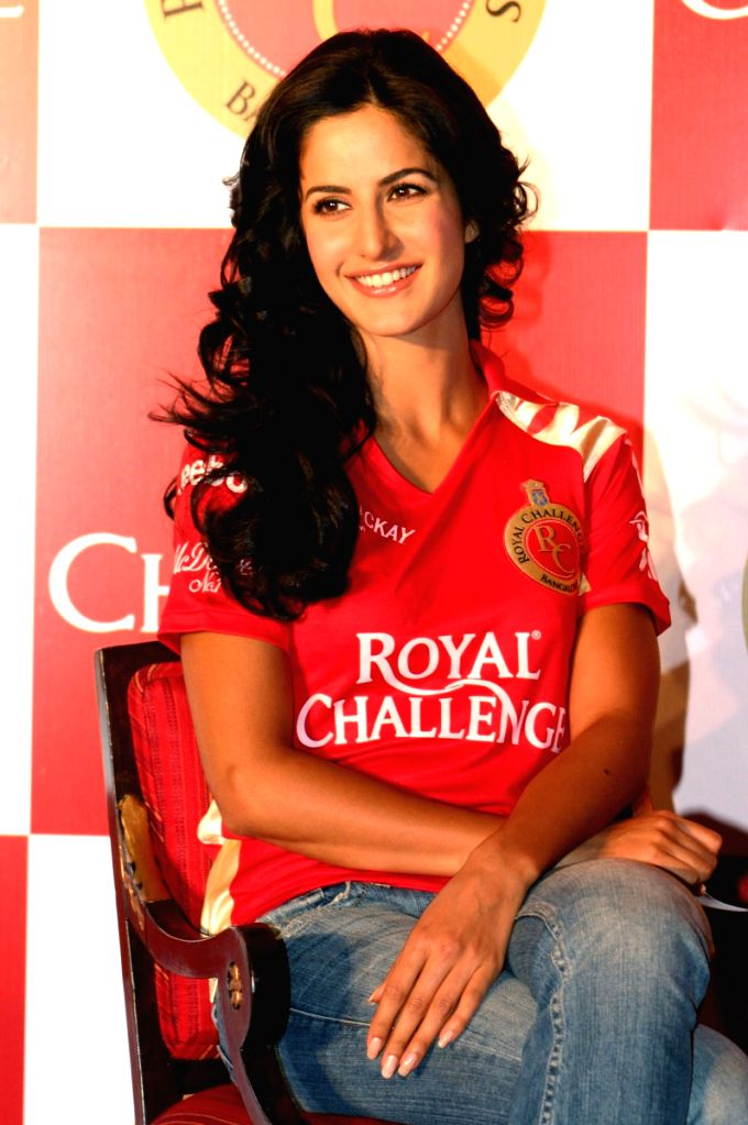 Bollywood actress Katrina Kaif at an event organized for the Royal Challengers fans in New Delhi