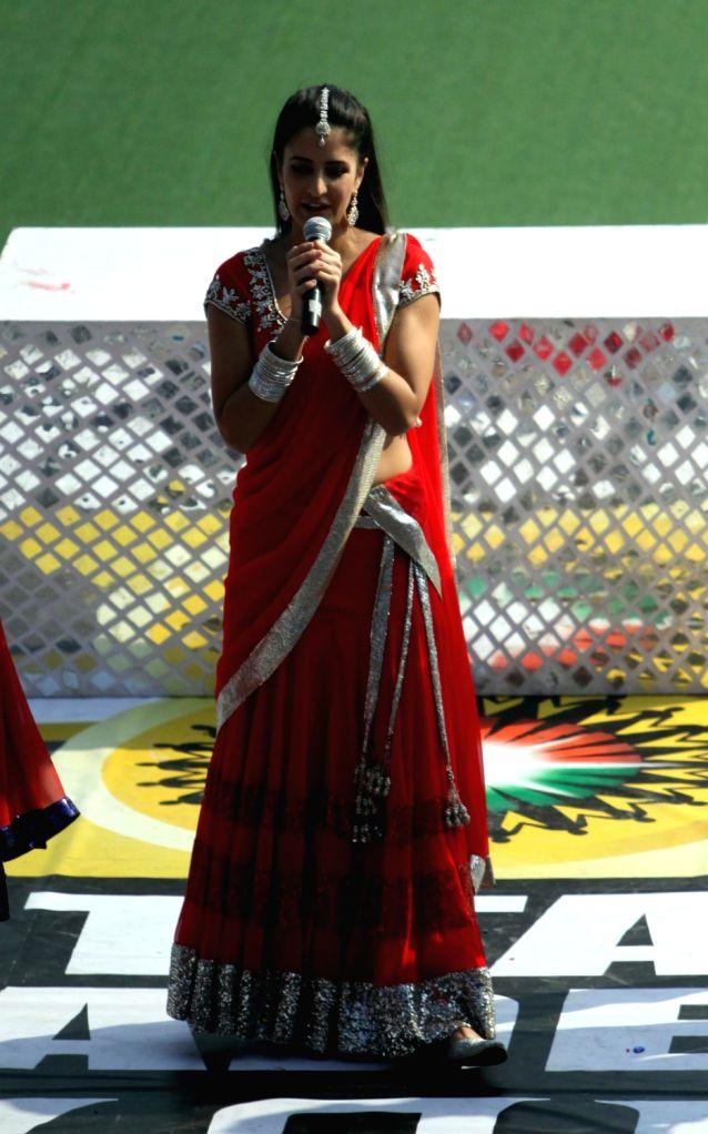 Bollywood actress Katrina Kaif performed  at the opening match of Hero Hockey India League in Lucknow. (Photo:IANS/Amlan) - Katrina Kaif