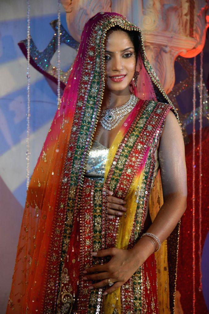 Bollywood actress Neetu Chandra showcased designer Neeta Lulla's bridal collection at the Indian Wedding Carnival, Mayfair Rooms in Mumbai.