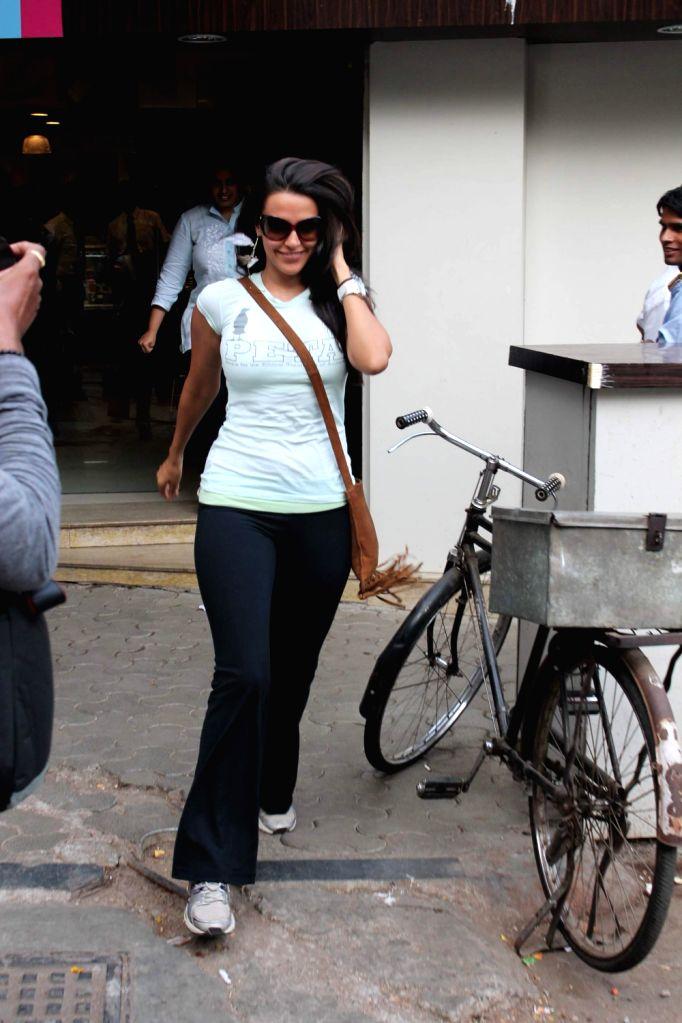 Bollywood actress Neha Dhupia snapped Mumbai, India.