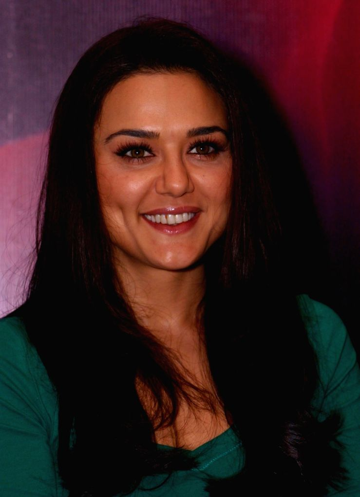 "Bollywood actress Preity Zinta at a press meet for promotion of  her new film "" Videsh-Heaven on Earth"",in New Delhi on Friday."