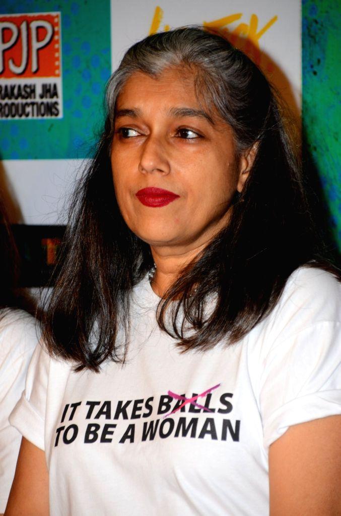 Bollywood actress Ratna Pathak Shah during the trailer launch of film Lipstick Under My Burkha, in Mumbai on June 27, 2017. - Ratna Pathak Shah