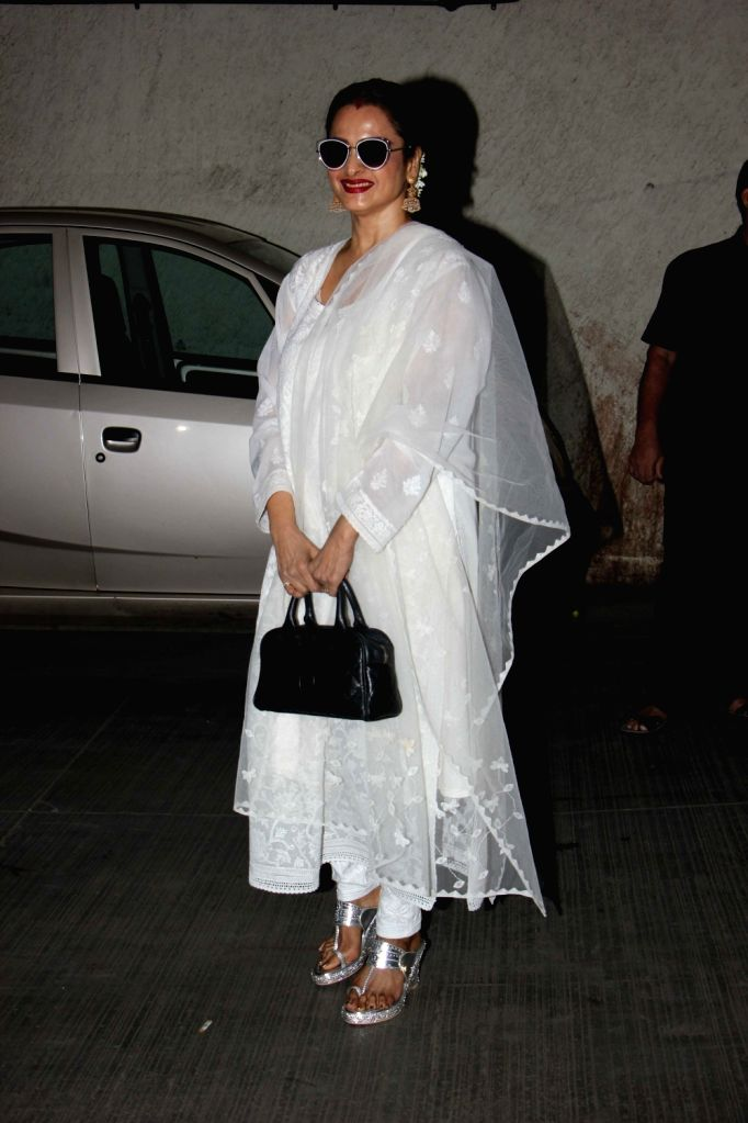 Bollywood actress Rekha during the screening of film Dear Maya on June 4, 2017. - Rekha