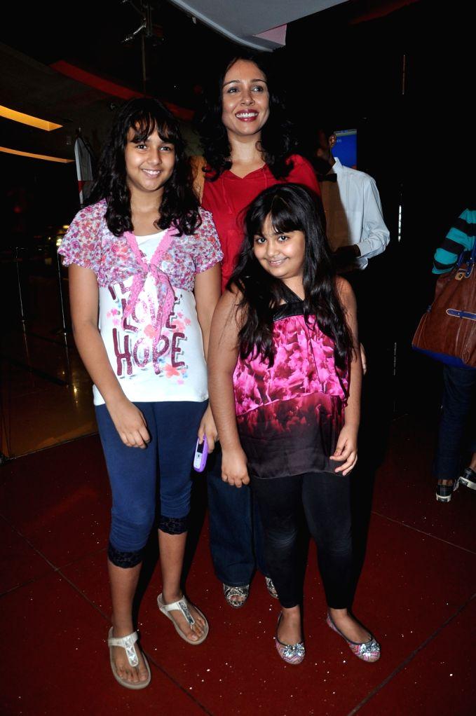 Bollywood actress Suchitra Krishnamurthy at the special screening of the upcoming film `Gattu`, held at Cinemax, Mumbai. - Suchitra Krishnamurthy