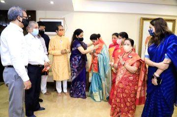 Bollywood actress Urmila Matondkar formally joined Shiv Sena in Mumbai on Dec 1, 2020. She was welcomed by Maharashtra Chief Minister Uddhav Thackeray and other senior leaders, while ... - Urmila Matondkar
