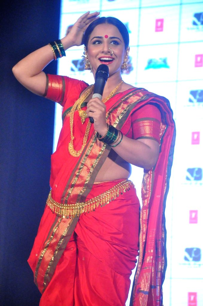Bollywood actress Vidya Balan performs lavani to promote `Ferrari Ki Sawari` in Bandra, Mumbai.