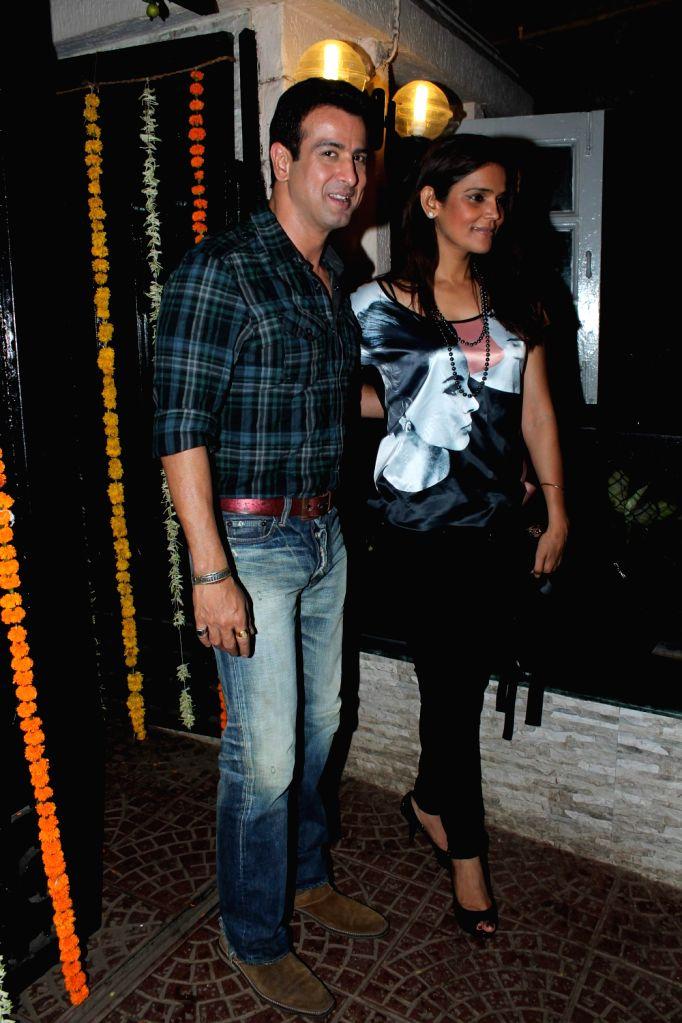 Bollywood and TV actors at Ekta Kapoor`s Birthday Bash at her residence in Juhu, Mumbai.