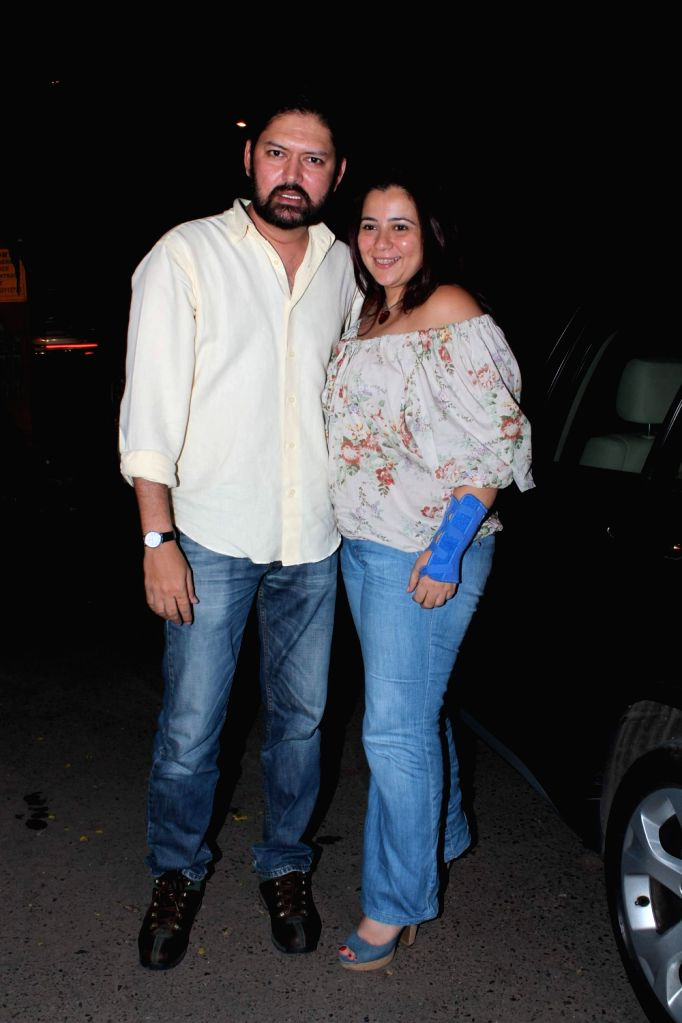 Bollywood celebrities at Ekta Kapoor`s Birthday Bash at her residence in Juhu, Mumbai.
