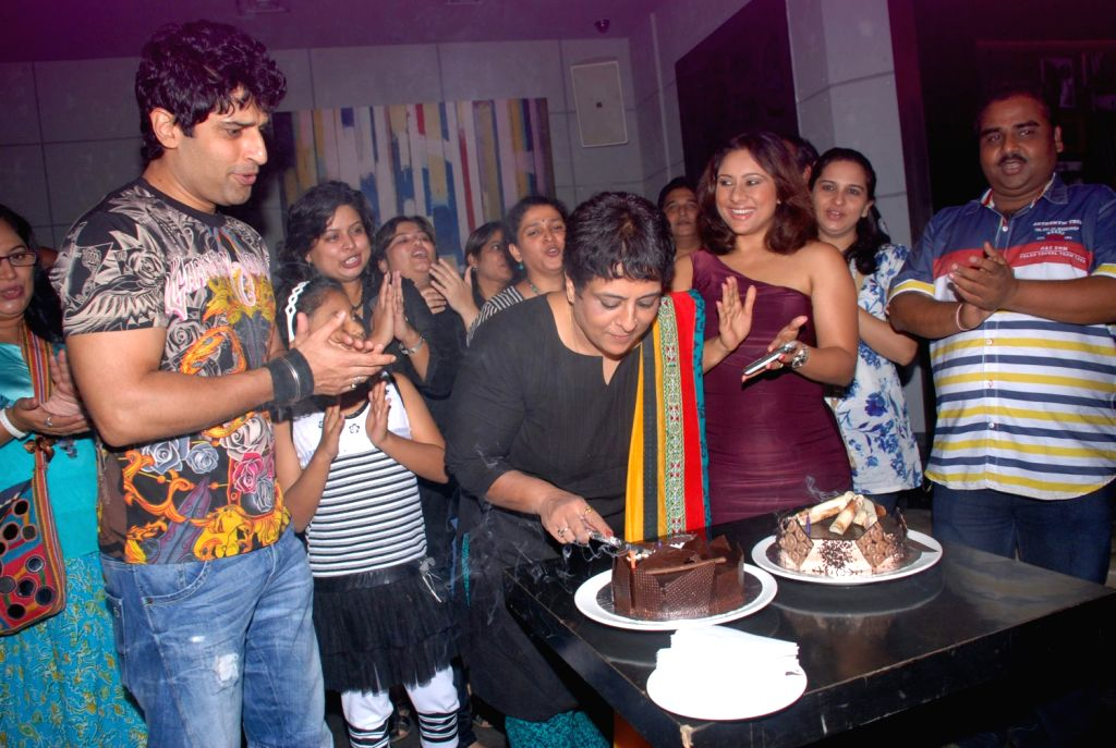 Bollywood celebrities at Sai Deodhar mother Shrabani`s birthday bash at Fat Cat Cafe.