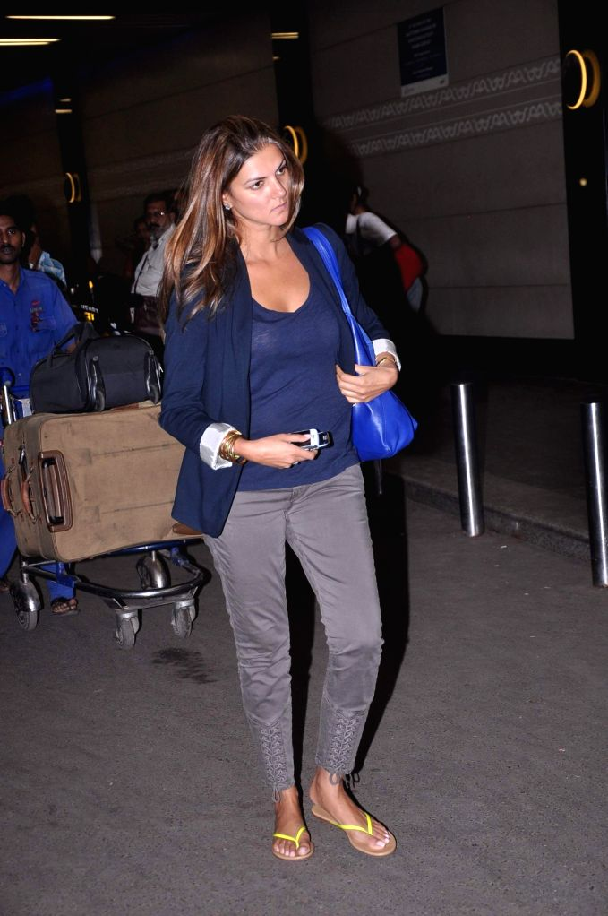 Bollywood celebrities snapped at airport leaving for London.