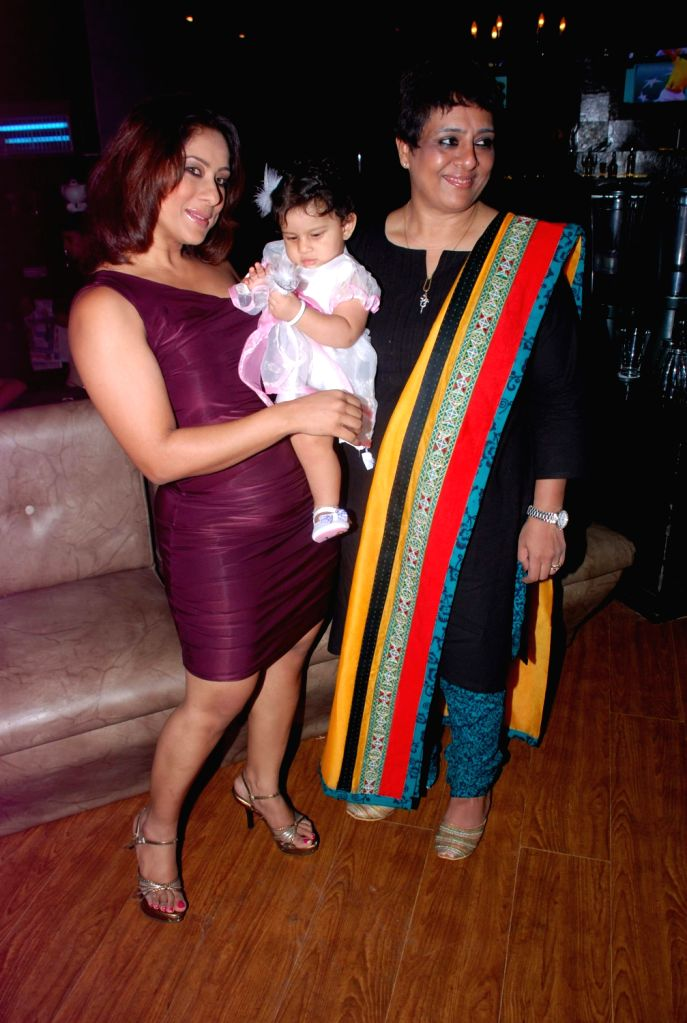Bollywood celebrity Shakti`s mother-in-law Shrabani`s birthday bash at Fat Cat Cafe.