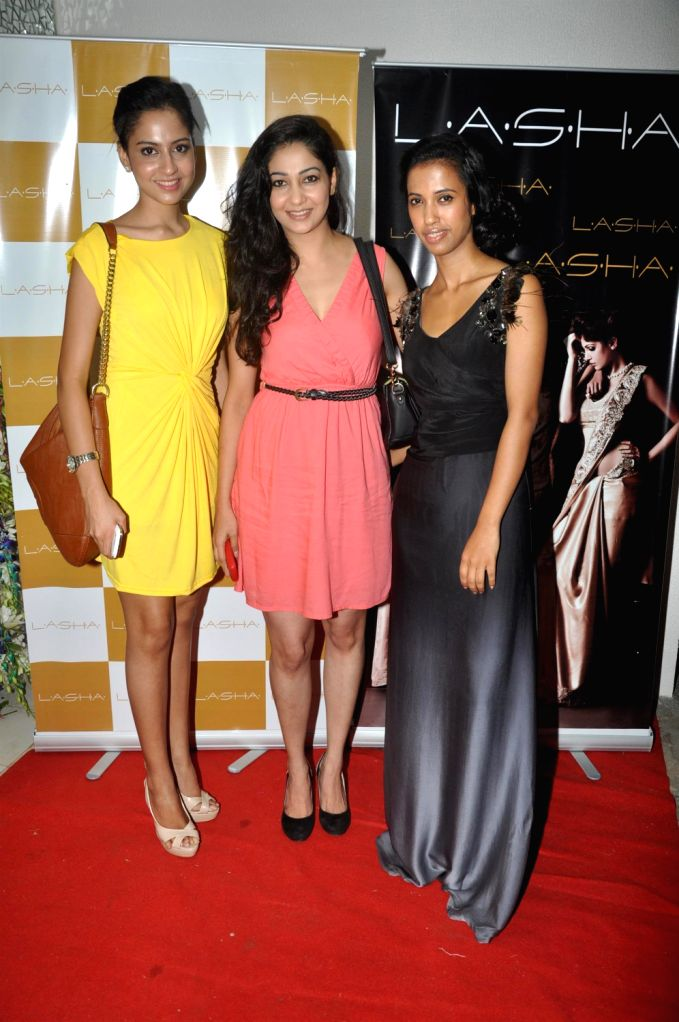Bollywood celebs during the launch of LASHA store in Bandra, Mumbai on Friday, August 16, 2013. (Photo::: IANS)