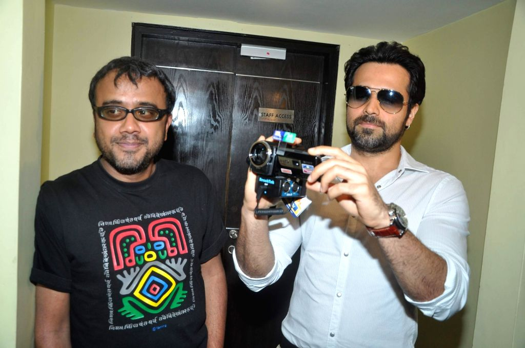 Bollywood director Dibakar Banerjee and actor Emraan Hashmi at `Shanghai` film promotional event in PVR Juhu, Mumbai. - Emraan Hashmi and Dibakar Banerjee