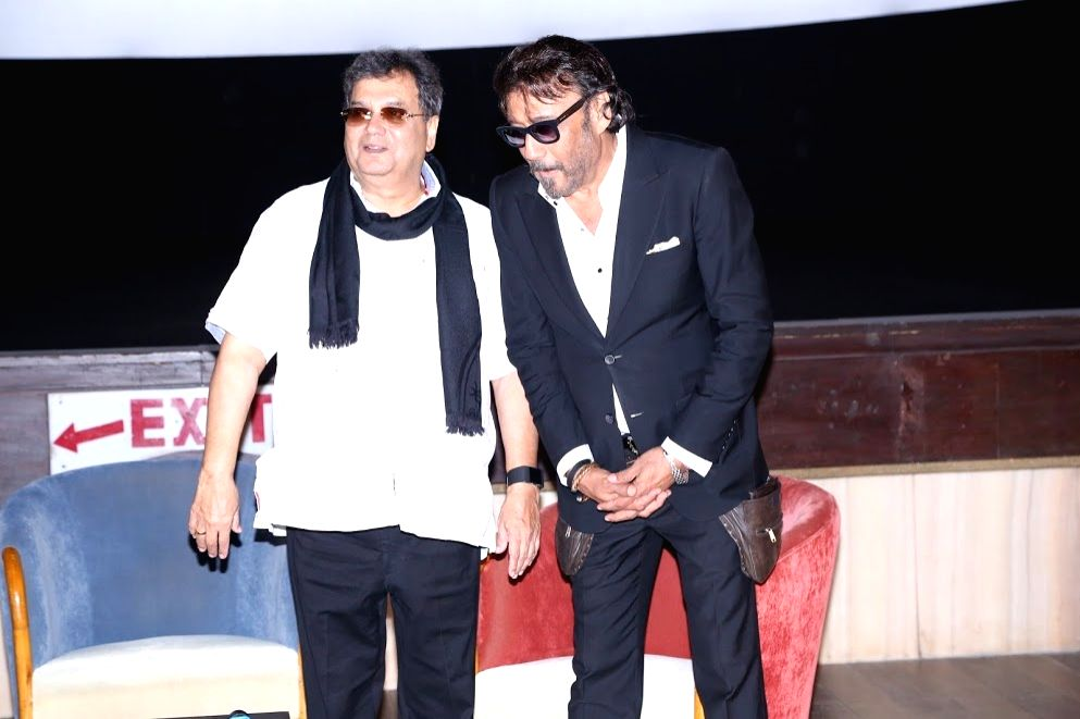 "Bollywood flimmaker Subhash Ghai and actor Jackie Shroff during the re-premier of action thriller flim ""Khalnayak"" in Mumbai in Mumbai on June 11, 2017. - Jackie Shroff"