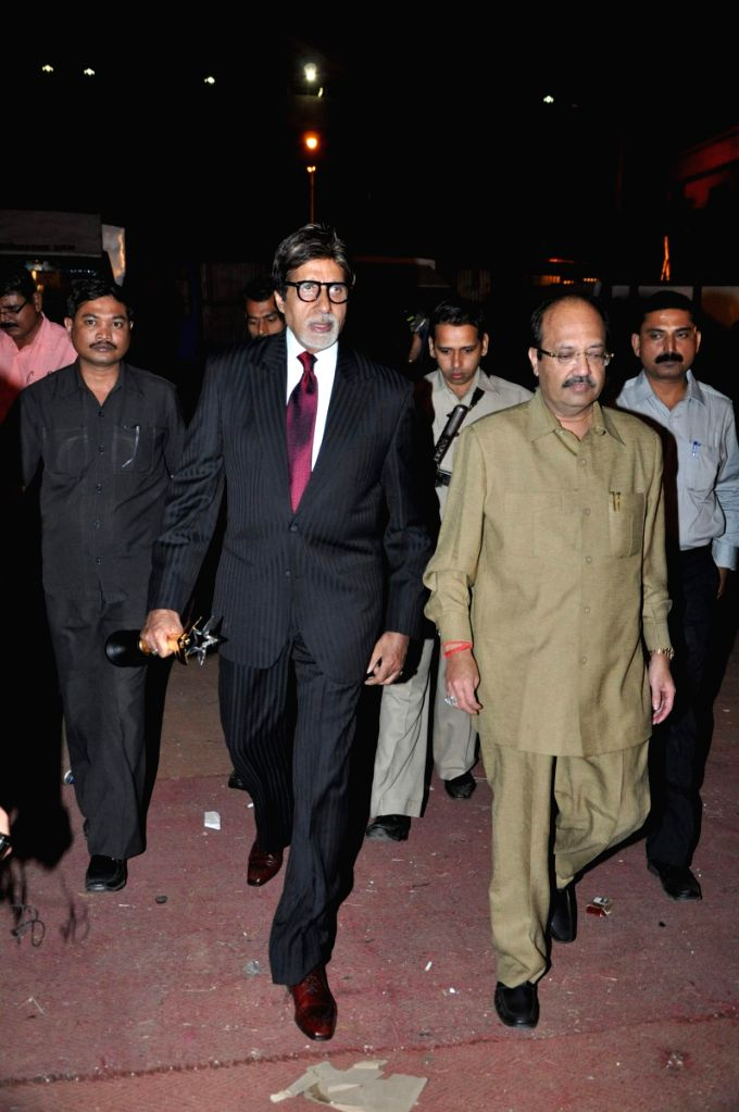 Bollywood megastar Amitabh Bachchan and Amar Singh at Stardust Awards 2010 in Mumbai. - Amar Singh