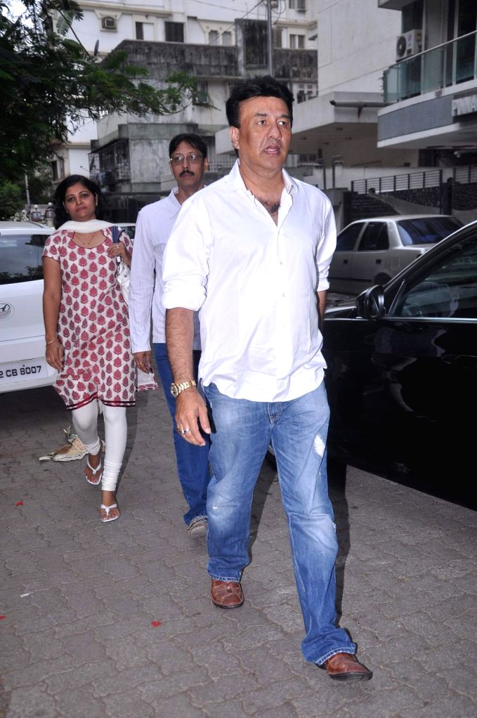 Bollywood music composer Anu Malik at Raju Hirani`s father`s prayer meet. - Malik