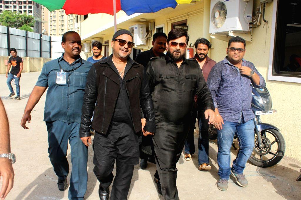 Bollywood music composers Wajid Ali and Sajid Ali on the sets of Sa Re Ga Ma Pa Lil Champs 2017 in Mumbai, on June 20, 2017.