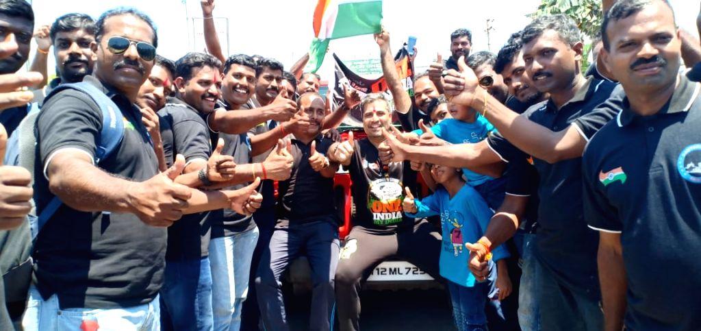 Bollywood producer Shailendra Singh kicked off a unifying rally to mark the 150th birthday of Mahatma Gandhi. - Shailendra Singh