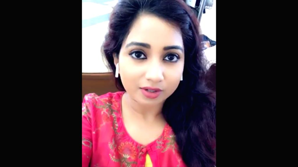 Bollywood singer Shreya Ghoshal in a still from the video that she posted on Instagram to share her plight after the software glitch hindered 155 flights of national carrier Air India on Saturday and ... - Shreya Ghoshal